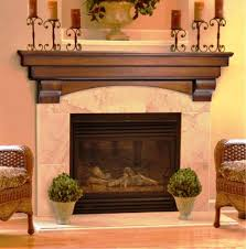 image of solid wood fireplace mantels