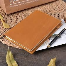 vintage leather journal notebook planner book cover for cousin original bullet journals with lock and key