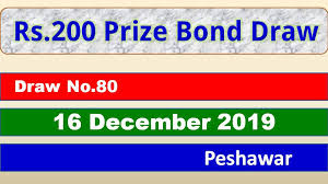 We're also reducing the premium bonds prize fund rate and odds of winning from the december 2020 prize draw. Rs 200 Prize Bond Result 80 Draw 16 December 2019 List Peshawar
