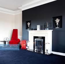 Gap Interiors Modern Living Room With Black Feature Wall Image