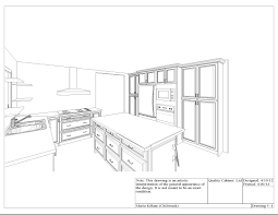Kitchen Cabinet Drawing At Getdrawingscom Free For Personal Use