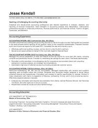 Example Of Resume For Internship – Eukutak