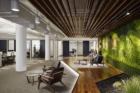 greenery office interiors. Key Materials Such As A Greenery, Wood, Steel And Concrete Were Used To Form · Interior OfficeOffice Greenery Office Interiors S