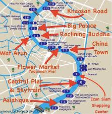 Map Of Them Bangkok River Print And Download