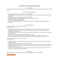 Security Officer Resume Security Job Resume Information Security