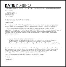 Cover Letter For It Assistant Claims Assistant Cover Letter Sample Cover Letter