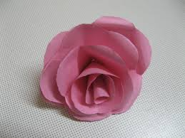 Rose Paper Flower Making How To Make Real Looking Paper Roses 7 Steps With Pictures