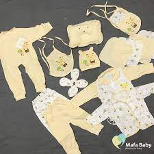 Set đồ sơ sinh cho bé Baby Fashion, 15 chi tiết - Có gối