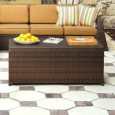 wicker patio coffee table patio coffee table with storage remarkable home design ideas 7 resin wicker