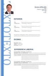 Ejemplo De Curriculum Vitae En Word Modelos De Curriculum Vitae En Word Para Completar