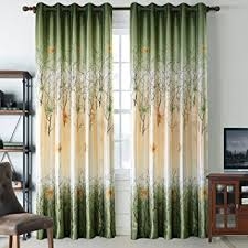 green curtains for living room. green leaf tree curtains living room - anady top 2 panel green/orange maple for n