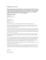 Job Application Letter Electrical Engineer Cover Letter For