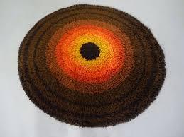 vintage high pile rug from desso 1970s 1