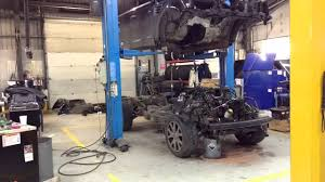 Range Rover sport engine out and strip - YouTube