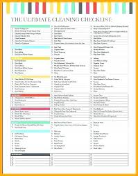 Professional Schedule Template Free Professional House Cleaning Checklist Template Estimate