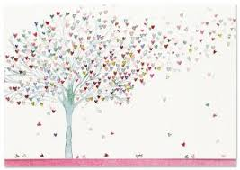 Tree Of Hearts Note Cards Stationery Blank Note Cards