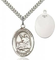 st john licci medal sterling silver