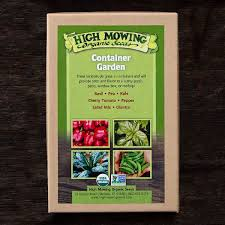 non gmo container garden seed collection