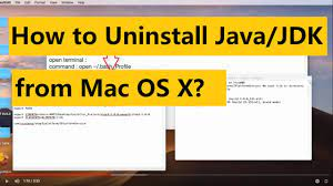 Uninstall Java 8.0 on a Mac (2019) - YouTube