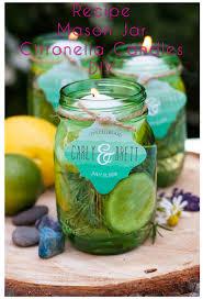 mason jar citronella candles diy