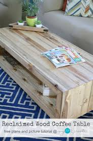 build your own beautiful reclaimed wood coffee table with free plans and picture tutorial from mylove2create
