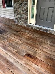 rustic concrete wood porch tailored