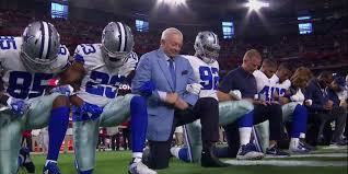 dallas cowboys kneeled prior to mnf game stood during the anthem business insider