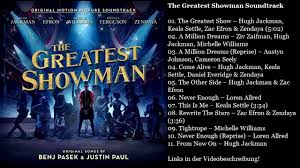 The Greatest Showman Soundtrack tracklist - YouTube