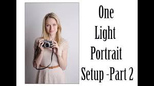 One Light Setup For Photography The Basics Of One Light Portrait Setup Part Ii