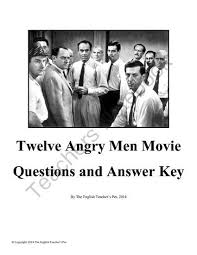 twelve angry men essay questions