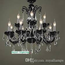 antique black led chandelier crystal lighting for dining room retro pendant crystal chandelier light living room res de cristal lamparas black