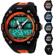 mens waterproof watches dual time analog digital stopwatch day date men boy waterproof skmei sport watch