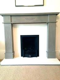 painted gray fireplace stone fireplace paint colors