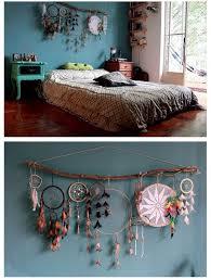 dream catcher decor over bed or headboard bohemian hype on diy dreamcatcher wall art decor room
