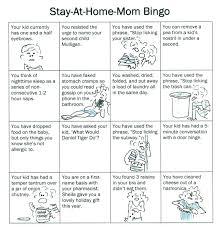 Stay At Home Mom Bingo Brain Child Magazine