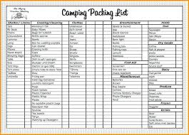 Packing List For Vacation Template Packing List For Vacation ...