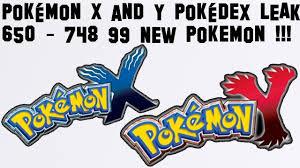 Pokemon Y and X Pokedex LEAK 650-748 - YouTube