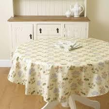 william morris lily 137cm round pvc oilcloth fl tablecloth