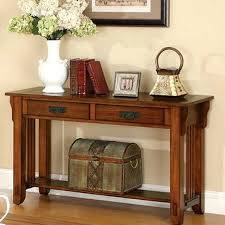 oak hardwood mission style sofa table 399 00