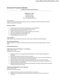 Clerical Resume Enchanting Resume For Clerical Job