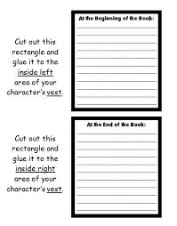 Cut Out Character Template Character Body Book Report Project Templates Worksheets