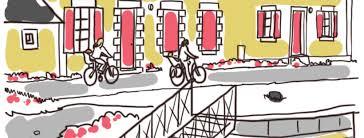 Croquis du mercredi : Canal de Nantes à Brest à vélo avec des tout-petits –  Les Parents Voyageurs