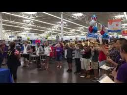 Panther Band Performs At Walmart Grocery Pickup Ribbon Cutting