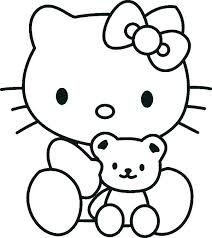 Hello Kitty Colring Sheets Pictures Of Hello Kitty Coloring Pages Designsbytribal Co