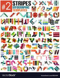 Stripe Templates Huge Set Of Stripe Infographic Templates 2 Vector Image
