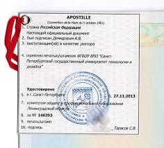 Апостиль на диплом и аттестат об образовании Санкт Петербург