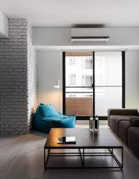 Modern Apartment Living Room Trendy Bue Colored Chair Placed On Corner Of Contemporary