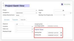 Project Gantt View Odoo Apps
