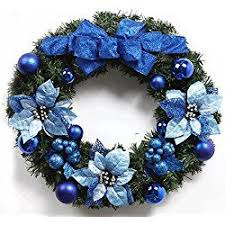 Multicolours Christmas Wreath Pine Needles Flower and Berry for Front Door  Decorate Garlands (More Size