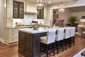 Off White Cabinets With Woodland Brown Island Crystal Cabinets